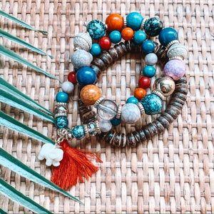 Jewelry - 🌿Boho Beaded Bracelet Set